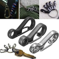 Wholesale Durable Mini SF Carabiners Clasp Keychain Paracord Tactical EDC Survival Gear Camping Hiking Outdoor Sports SC021