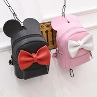 Wholesale cute backpacks free shipping for sale - Group buy Backpack Girls Korean Cute Cartoon Backpack Fashion Bow Girls Bags with Ear PU Material