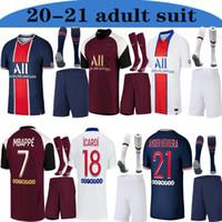 Wholesale paris uniforms for sale - Group buy 2020 TOP Adult suit with socks kits Maillots de football Paris soccer jersey Paris MBAPPE ICARDI NEYMAR football shirt uniform