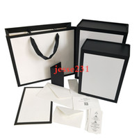 Women Shoulder Bags White Gift Box With Certificate Card Accessories Shopping Bag 2 Size