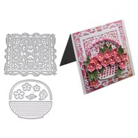 Wholesale invitations maker for sale - Group buy 3D Flower Invitation Card Frame Metal Cutting Dies for Scrapbooking Album Embossing Folder Paper Card Maker Template Decor Stencils Crafts