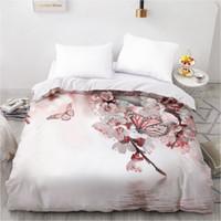 Wholesale microfiber blanket queen resale online - Duvet Cover Custom Comforter Quilt Blanket case Adult Queen King Bedding For Wedding Floral Microfiber LJ201015