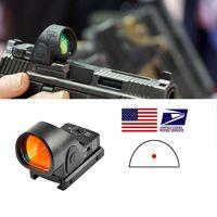 Trijicon Mini RMR SRO Red Dot Sight Collimator Rifle Reflex Sight Scope Fit 20mm Weaver Rail for Airsoft Hunting Rifle