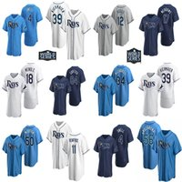 Wholesale 2020 Custom Mens Womens Youth Tampa Bay Ray Randy Arozarena Kevin Kiermaier Blake Snell Austin Meadows Willy Adames jerseys