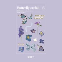 Wholesale korean planner for sale - Group buy Butterfly Beautiful Kawaii Sticker Planner Korean Art Supplies Diy Cut Thin Stickers Sheet Color Stationery Stickers sqcrvV wphome