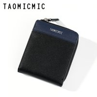 Wholesale wallet hombre zipper for sale - Group buy Men s wallet new contrast color men s wallet casual multi function Coin purse seven character zipper short cartera hombre