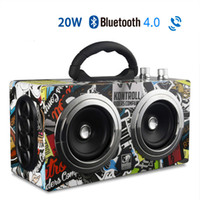 Wholesale bass wooden for sale - Group buy M8 Wireless Wooden Bluetooth Speaker W Bass Portable Mini Outdoor Stereo Subwooofer Retro Speakers with FM Radio Support TF