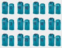 Wholesale charlotte gold for sale - Group buy Charlotte Hornets Men Devonte Graham Kemba Walker Terry Rozier III P J Washington Cody Zeller NBA Teal Custom Icon Jersey
