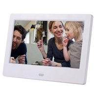 Wholesale blue digital photo frame resale online - 7 Inch Lcd Widescreen Hd Led Electronic Album Digital Photo Frame Wall Advertising Machine Gift