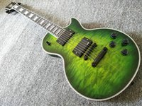 Wholesale electric guitar active pickups resale online - Custom Shop Green Electric Guitar Quiltd Maple Top Guitar Active Pickups Black Hardware China Guitars