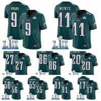Wholesale Philadelphia Eagles Men Zach Ertz Nick Foles Carson Wentz Jay Ajayi Super Bowl Alshon Jeffery football Jersey