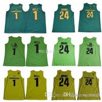 Wholesale oregon ducks shorts for sale - Group buy 2019 Mens Oregon Ducks Bol Bol College Basketball Jerseys Bell Dillon Brooks Greens Stitched Shirt
