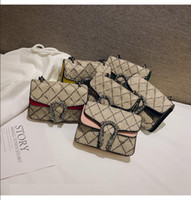 Designer Kids Handbags Children Letter Printed Messenger Bag Change Purse Girls Mini Messenger Bag Kid Casaul Chain Shoulder Bags S352