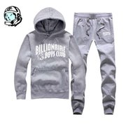 Wholesale hip hop basketball resale online - billionaire BBC club boys mens designer hoodie hip hop track suit men s jogging suit autumn winter BBCY1 warm pullover Top pant