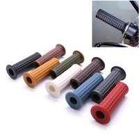 Wholesale red motorcycle grips for sale - Group buy 22mm Handle Bar Hand Grips For Pit Dirt Bike Motorcycle Black Red White Grey Handle Bar Hand Grips Handlebar