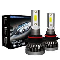 Wholesale import chips resale online - 2pcs Mini Auto Headlight Lamp H1 H4 H7 H11 Imported COB Chip W LM White High Power Car LED Light
