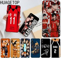 volleyball phone case achat en gros de-Hot Haikyuu Hinata Anime Volleyball Black Cell Phone Case Pour Huawei Nova 6SE 7 7PRO honneur 7SE 7A 8A 7C Prime2019