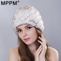 Wholesale cap rex resale online - MPPM Russian Winter Knitted Fur Cap Women Genuine Fur Hats Caps Female Women s Hat Natural Rex Hats