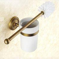Wholesale towels rails resale online - Bathroom Hardware Set Brass Robe Hook Towel Rail Rack Bar Shelf Paper Holder Toothbrush Holder Bathroom Accessories bbyNLQ yh_pack
