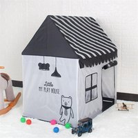 Wholesale toy tent for kids resale online - Black And White Tent Gifts Toys For Kids Children Play Tent Toy Portable Foldable Ball Pool Pit Indoor Simulation House Present wmtIDS