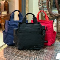 Wholesale lunch bag women resale online - 2020 Handbag Environmental protection canvas water cup position large capacity lunch box work with rice bag for men and women