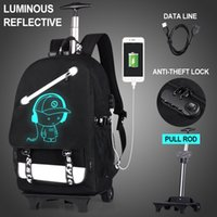 Wholesale rolling backpacks for sale - Group buy Men Rolling Luggage Backpack for Teenage Girls Boy School Bag Trolley Wheeled Backpacks Female Sac a Dos