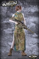 Wholesale sexy model set for sale - Group buy In Stock MULTIFUN Scale MF Fighting Girl Female Sexy Camouflage Cheongsam Clothes Set Accessory Model for Body