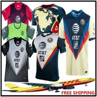 Wholesale america soccer resale online - DHL Club America soccer Jersey Tijuana Chivas Tigres UANL Laguna UNAM football shirt Size can be mixed batc