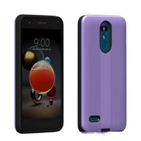 Wholesale phone for boost for sale – best Armor Hybrid Brushed Carbon Case For Samsung Galaxy J3 Star J3 J3 Achieve Boost PC TPU Phone Cover D