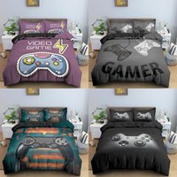 video game king 2021 - Teens Video Games Comforter Duvet Cover Set King Size Gamepad Controller Bedding Set for Kids Boys Girls Youth Game Bedding Set 201210