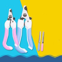 Wholesale cats suits resale online - Pets Nail Beauty Suppliers Stainless Steel Dog Cat Nail Clipper Pet Claw Cleaning Tool Suit For Pets Manicure Products YHM234