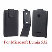 Wholesale microsoft phones for sale - Group buy Phone Bags Cover For Microsoft Nokia Lumia N532 phone case Back coque PU leather Flip Vertical Up Down Open skin pouch