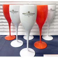 Moet Cups Acrylic Unbreakable Champagne Wine Glass Plastic Orange White Moet Chandon Wine Glass Ice Imperial Wine Glasses Goblet Pospv