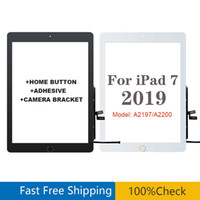 """10.2"""" For iPad 7 8 2019 Version A2197 A2200 A2198 Touch Screen Digitizer Front Outer Panel Glass with home button and adhesive"""