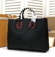 Wholesale woven leather ladies shoulder bag resale online - Crafty Crossbody Giant Handbag ONTHEGO GM Womens Shopping Bags Leather Shoulder Anvas Tote Bag Ladies Purse M45373 M45359 M44570 M45356