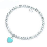 High Quality Brand Sterling Silver 925S Classic Fashion Designer Jewelry Woman Bracelet Blue heart Golden Coil Bangle Key Series Half Open