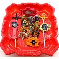 Wholesale beyblade toys free shipping resale online - 2020 burst set gold gyroscopes launcher red beyblade stadium as children s day gifts Q1121