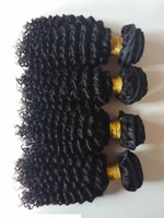 Wholesale dhgate resale online - Unprocessed Brazilian virgin human hair weft beauty kinky curly hair extensions for African American hair double weft DHgate