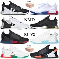 Wholesale nmd runner pk box for sale - Group buy With Box Men Women Running Shoes Nmd R1 V2 Runner Pk Sneakers Black White Blue Metallic Gold Carbon Shock Yellow Mexico City Trainers