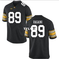 Discount iowa hawkeyes jerseys 2019 NEW Men Iowa Hawkeyes Nico Ragaini #89 real Full embroidery College Jersey Size S-4XL or custom any name or number jersey