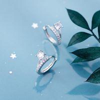 Wholesale clips earings resale online - MloveAcc Genuine Sterling Silver Hoop Dazzling CZ Ear Cuff Clip On Earrings for Women Girl Piercing Earings Jewelry