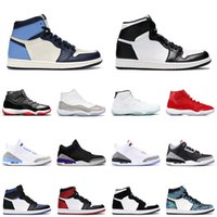 Wholesale best men trainers resale online - Best mens basketball shoes s obsidian royal toe women sneakers s bred gamma blue court purple men women trainer sports snea