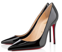 Wholesale louboutin heels for sale - Group buy Christian Luxury Bottom Louboutin CL Women s high heels cm cm cm nude black red leather pointed dress shoes
