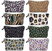 Cosmetic Bag Leopard Printing Waterproof Makeup Bag Ladies Storage Bag Simple Fashion Travel Pouch Wallets Totes Zipper Handbag E120407