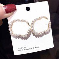 Fashion Pearl Alphabet Earrings Ladies Letters Earrings Women Vintage Studs Earrings Jewelry Accessories Party Anniversary Gift