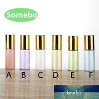 Wholesale essential oil lip balms resale online - 500pcs ml ml Glass Essential Oil Roller Bottles Glass Roller Balls Aromatherapy Perfumes Lip Balms Glass Roll on Bottle