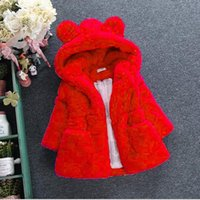 Baby Girls Fur Padded Jacket Thickened Jacket Coat Girls Clothes Children's Clothing New Autumn Winter New Girls' Wool Sweater