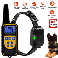 Wholesale dog collar shocks for sale - Group buy Dog Shock Training Collar Rechargeable Remote Control Waterproof IP67 Yards