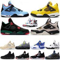 Wholesale coolest basketball shoes for sale - Group buy womens Basketball Shoes air Black Cat Bred s Guava Ice Twist men Jordan AJ4 Aj retro White Cool Grey Metallic jumpman