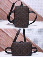 Wholesale man s bag canvas resale online - quality GERONIMOS M44468 chest pack M44428 Messenger canvas Crossbody bags Cowhide purse shoulder bag Men s wallet